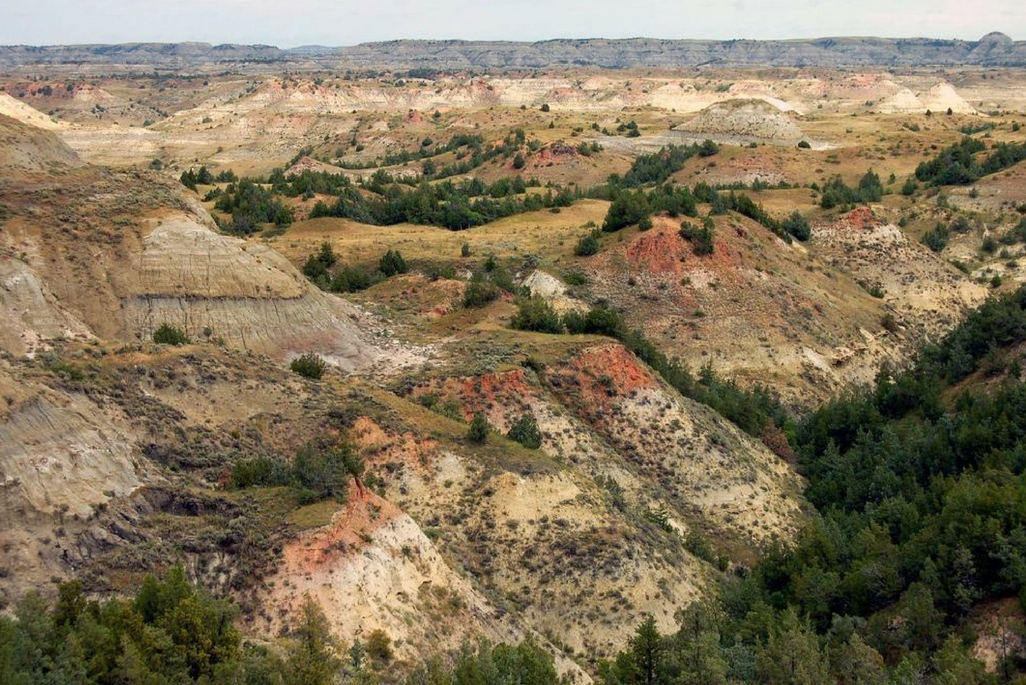 A view of Theodore Roosevelt National Park in North Dakota