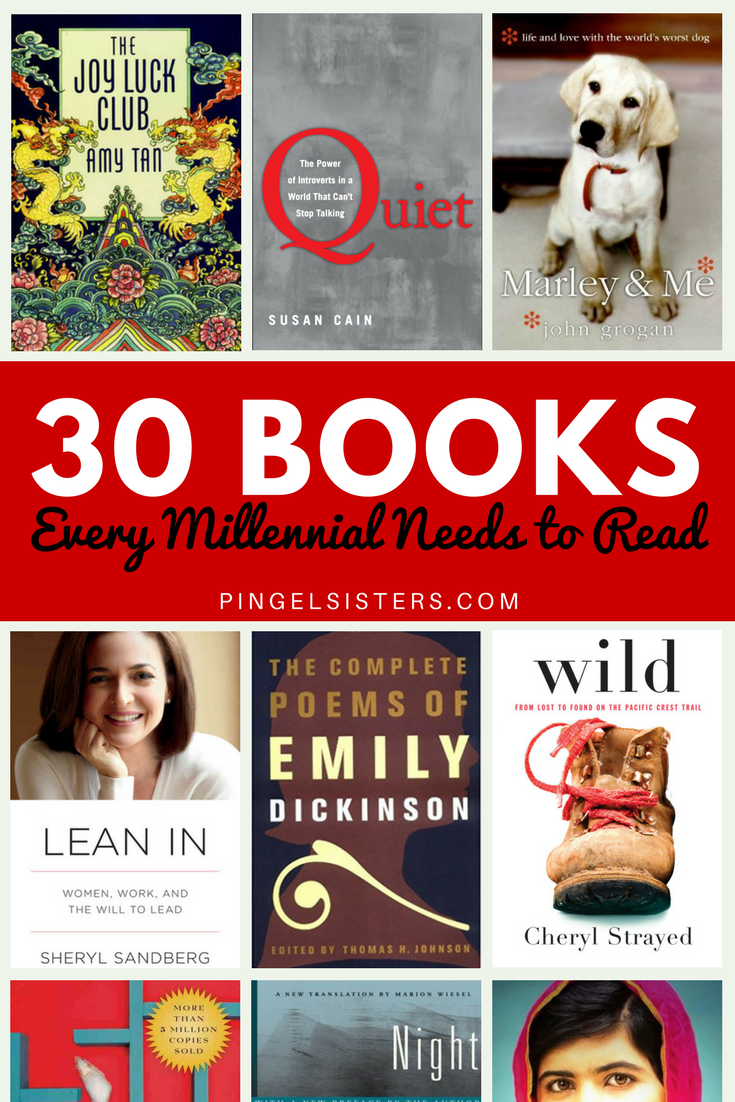 Check out our list of the 30 books every millennial needs to read and let us know how many you have read. book club | book recommendations | |book reviews | book lists | books | millennials