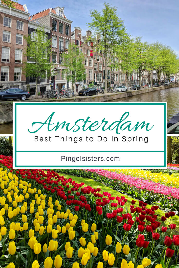 The best things to do in Amsterdam in Spring: A complete travel guide if you want to bike through tulips fields, visit the Keukenhof or take the best canal tour in Amsterdam.