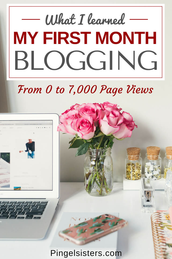 Can you really make money blogging? Our blog has been up for one month, and we are sharing the life lessons we've learned this past month, as well as peek into our stats - including how much money we have made. blogging | blogging tips | blogging advice | income report | new blogger | new blog | blog launch | social media accounts | giveaway | first month blogging | blog post checklist | free printable
