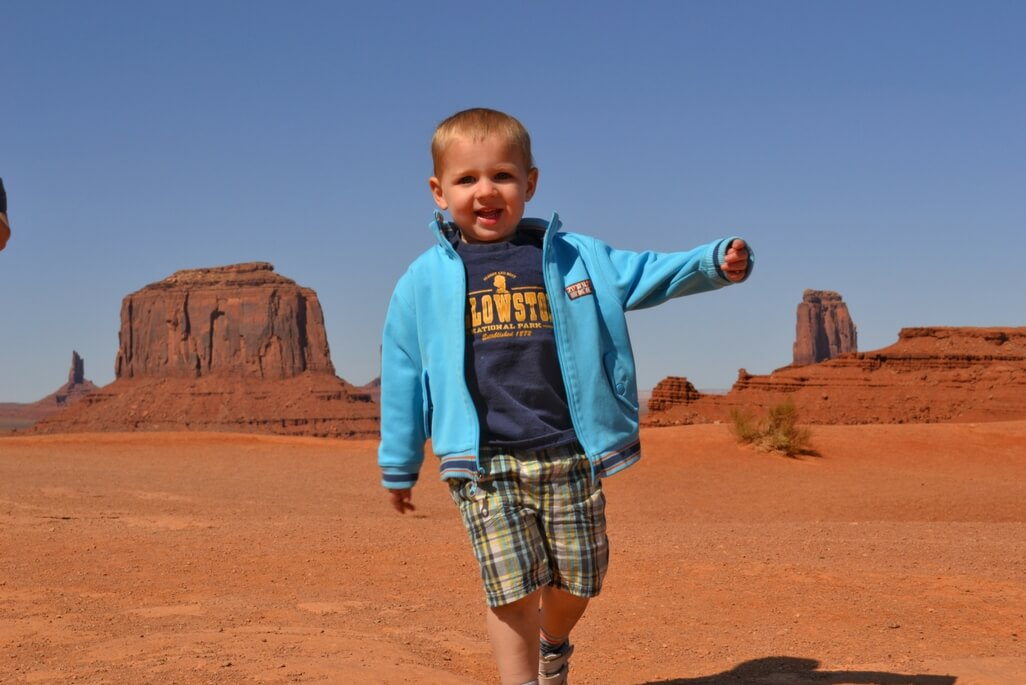 Toddler Boy at Monument Valley