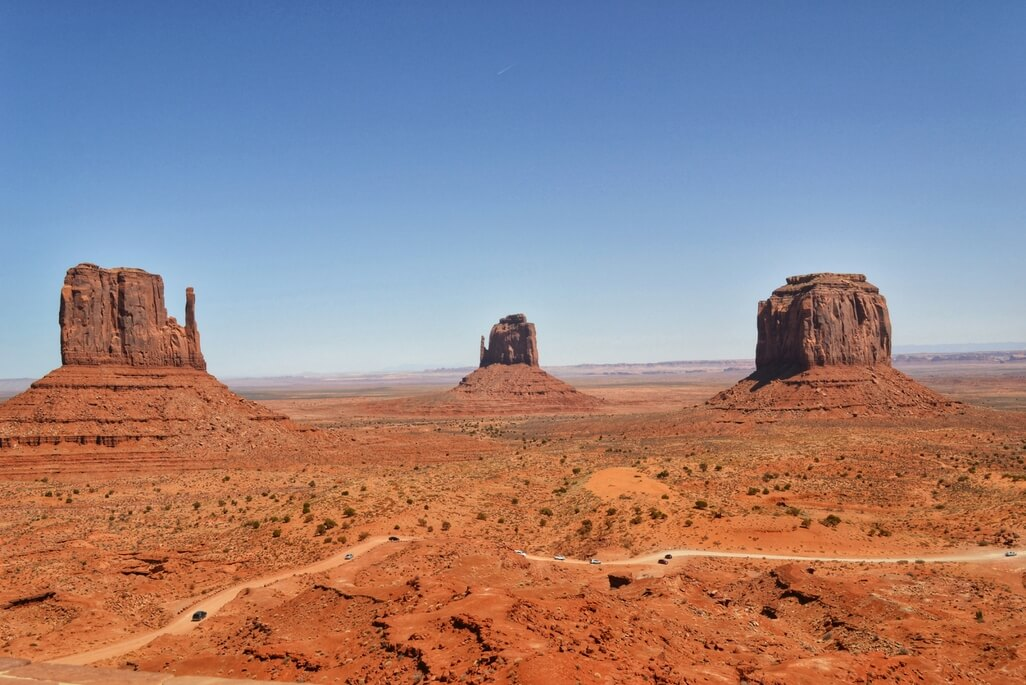 Monument Valley view from the visitor center