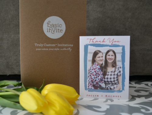 Basic Invite stationery - thank you card
