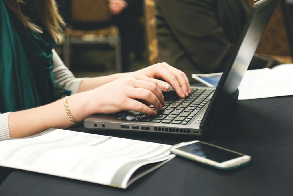 woman laptop notebook