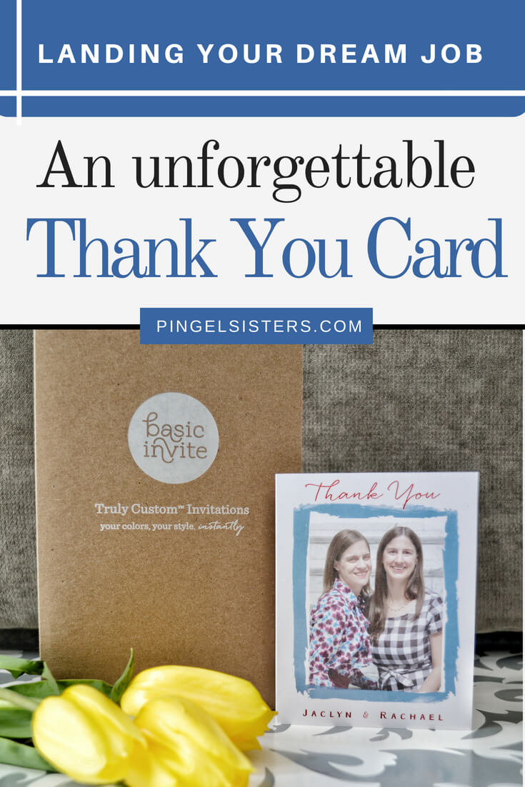 Interview tip: Don't forget to send a custom thank you card after a job interview. We have the perfect career advice for post interview thank you cards and the best place to get custom stationery.