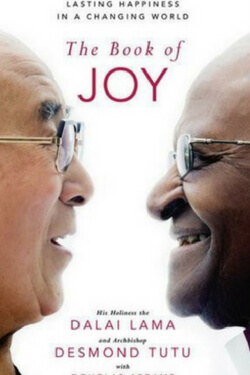 Book cover for The Book of Joy by the Dalai Lama and Desmond Tutu