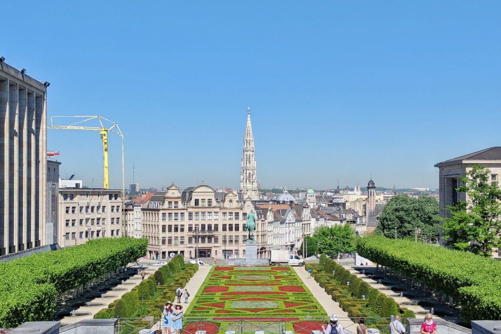 A Walking Tour of Brussels: view of City Hall in Brussels, Belgium