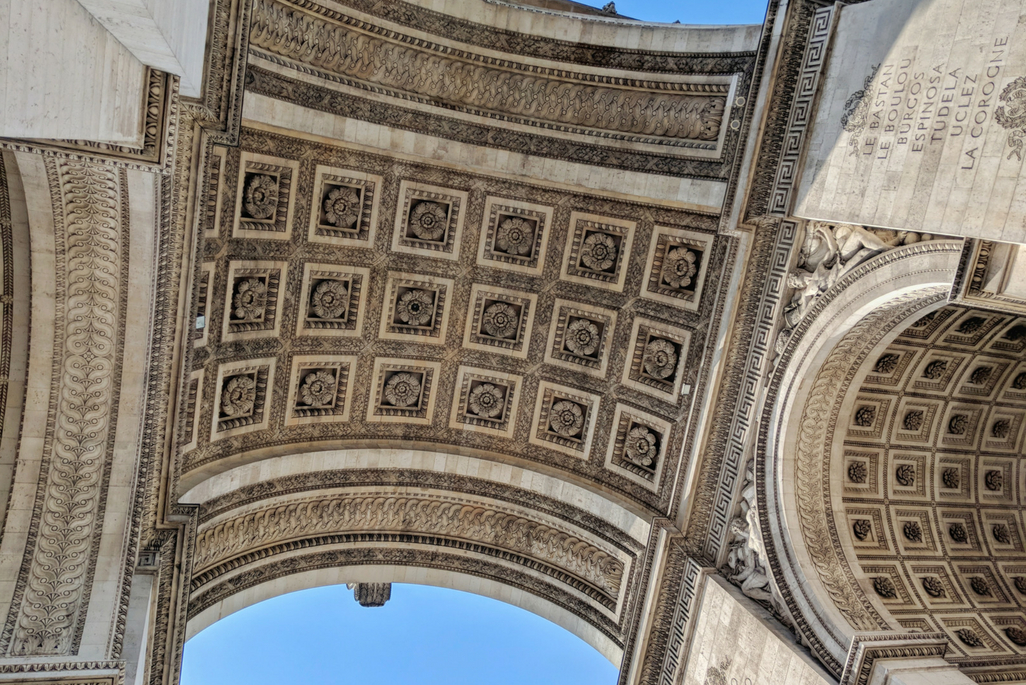 A Weekend in Paris: Arc de Triomphe ceiling