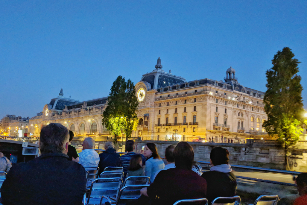 A Weekend in Paris: The Musee d'Orday at night