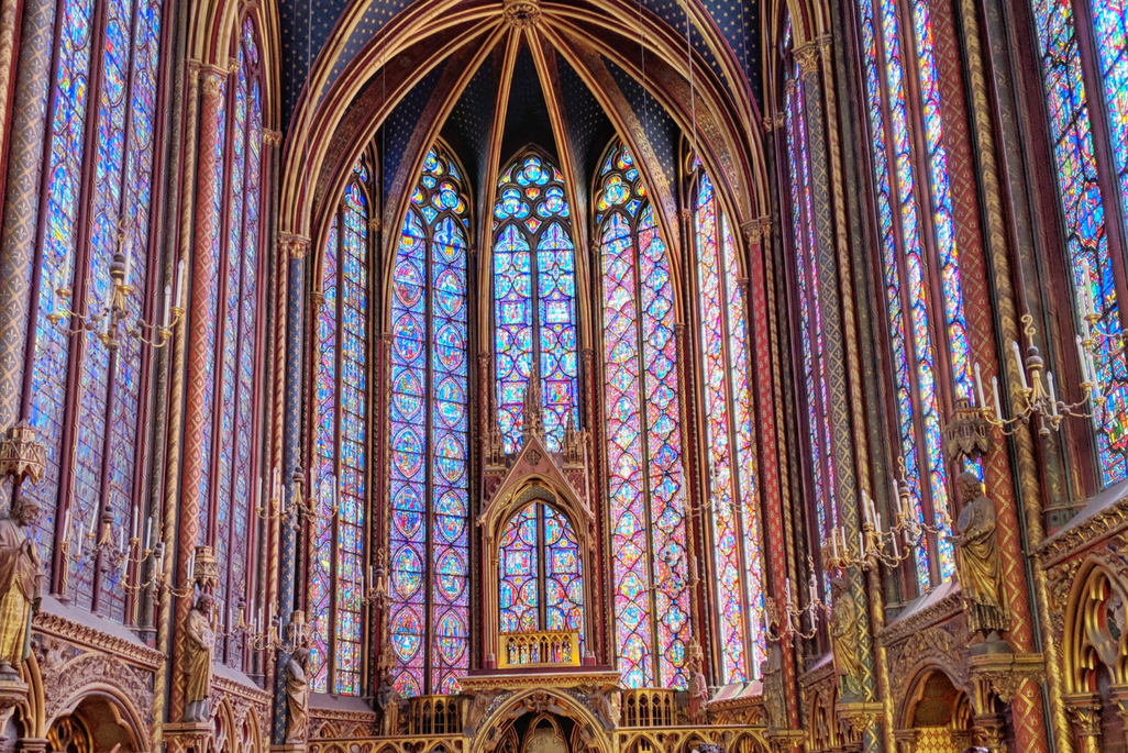 A Weekend in Paris: the stained glass windows of Saint Chapelle, Paris, France