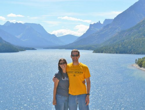 A millennial couple at Waterton Lakes National Park