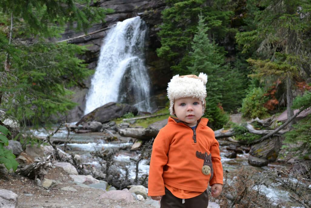 Little boy at Glacier National Park