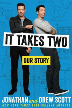 book cover for It Takes Two by Jonathan and Drew Scott