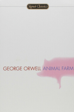 book cover for Animal Farm by George Orwell