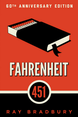 book cover for Fahrenheit 541 by Ray Bradbury