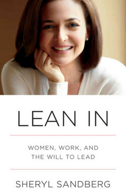 book cover Lean In by Sheryl Sandberg