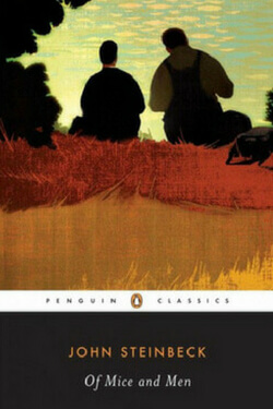 book cover for Of Mice and Men by John Steinbeck