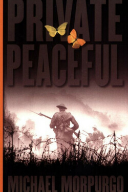 book cover for Private Peaceful by Michael Morpurgo