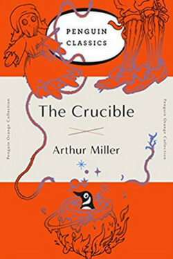 book cover for The Crucible by Arthur Miller