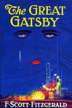 book cover for The Great Gastby by F. Scott Fitzgerald