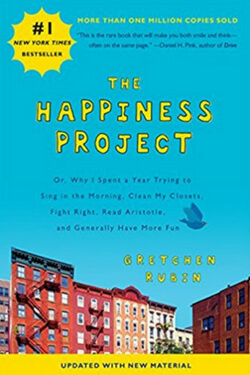 book cover for The Happiness Project by Gretchen Rubin