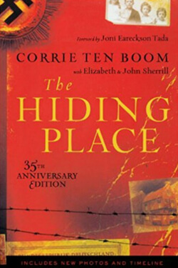 book cover for The Hiding Place by Corrie Ten Boom