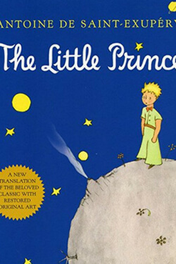 book cover for The Little Prince by Antoine de Saint-Exupery