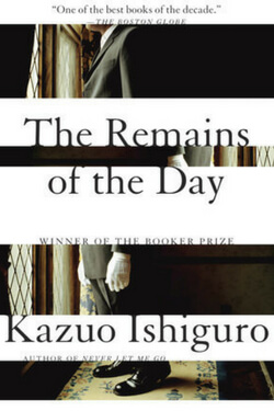 book cover for The Remains of the Day by Kazuo Ishiguro