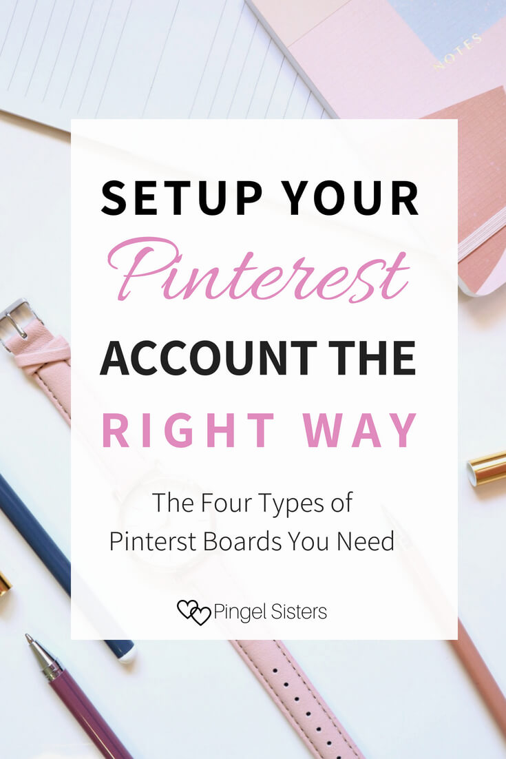 The four types of Pinterest boards every blogger needs and how to use Pinterest boards to your advantage as a new blogger. Setup and create a new Pinterest account the right way with these blogging tips and blogging advice specific to Pinterest. #Pinterest #groupboard #bloggingtips