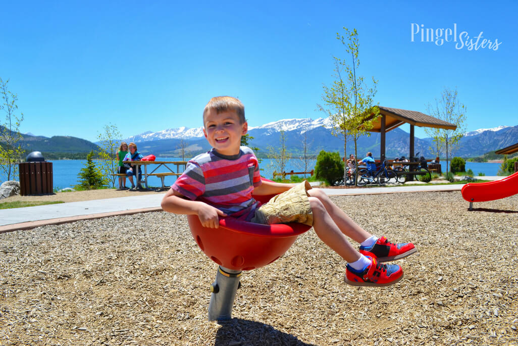 playground, Marina Park in Dillon, Colorado