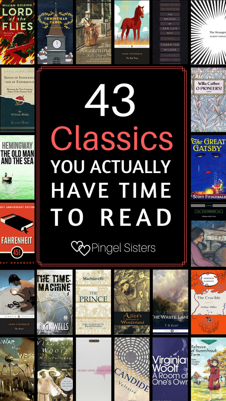 Who has time to read long classic books? If you want to feel well-read, try these short classics that you actually have time to read.
