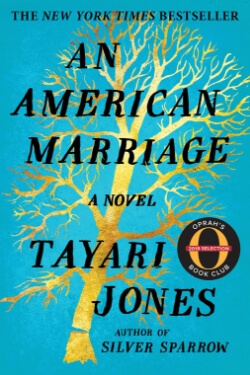 book cover for An American Marriage by Tayari Jones