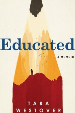 book cover for Educated by Tara Westover