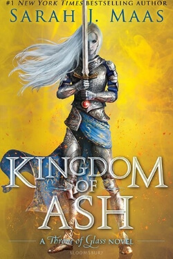 book cover for Kingdom of Ash by Sarah J Maas