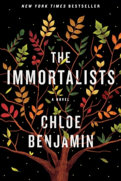 book cover for The Immortalists by Chloe Benjamin