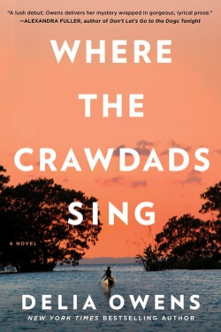 book cover for Where the Crawdads Sing by Delia Owens