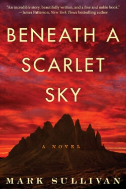 book cover for Beneath a Scarlet Sky by Mark Sullivan