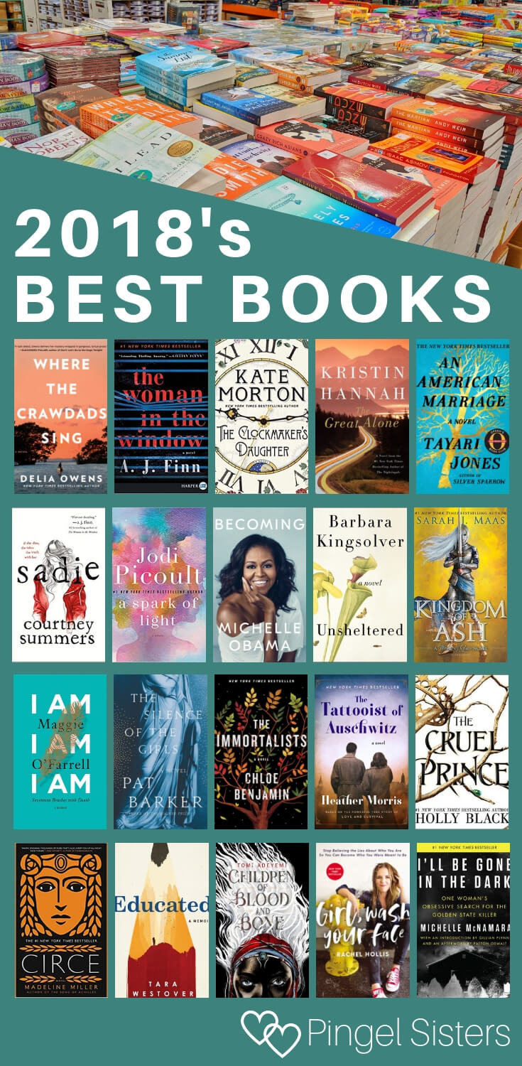 2018's Best Books // Catch up on all the year's hottest books with the best books of 2018. // books to read, best books 2018, bestselling books 2018 // #bookstoread, #amreading, #books