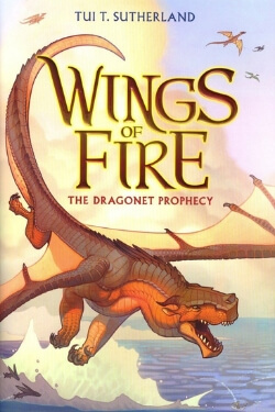 book cover The Dragonet Prophecy (Wings of Fire #1) by Tui. T. Sutherland