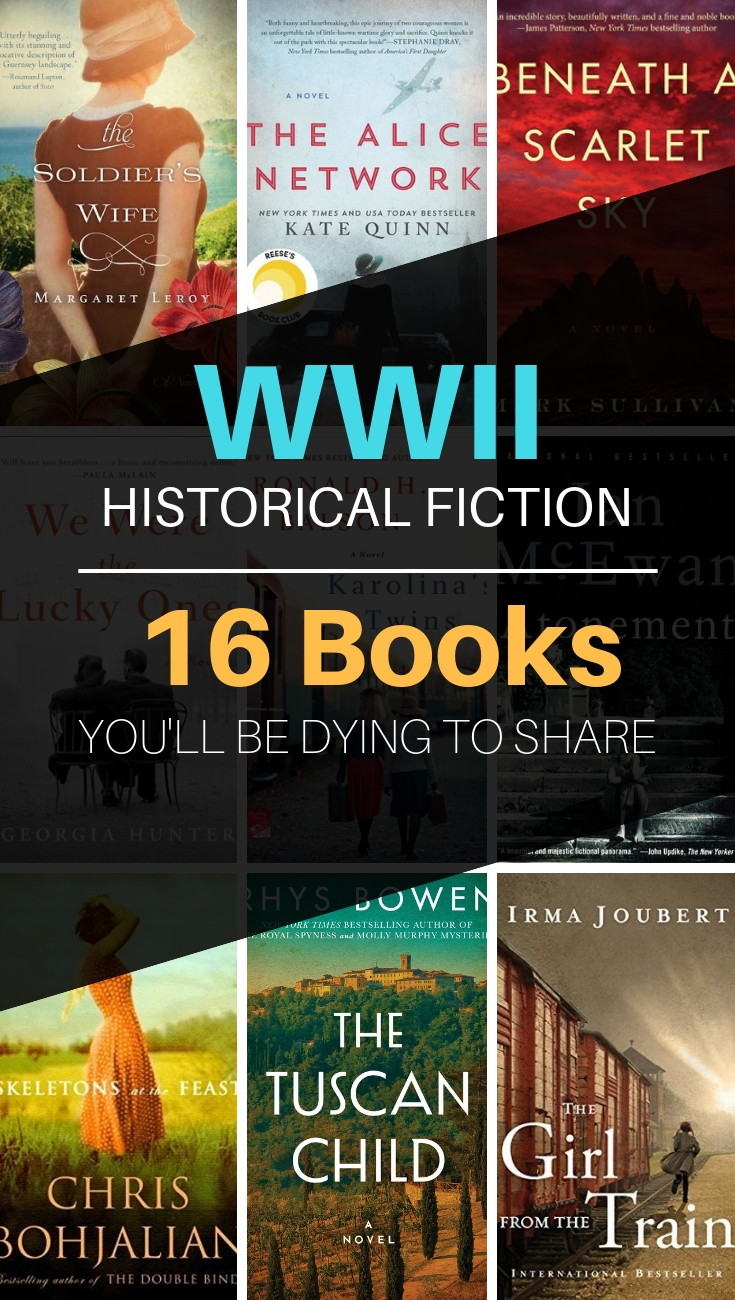 WWII Historical Fiction // 16 Books You'll Be Dying to Share with a Friend // historical fiction, world war 2 books, WWII historical fiction // #historicalfiction #bookstoread