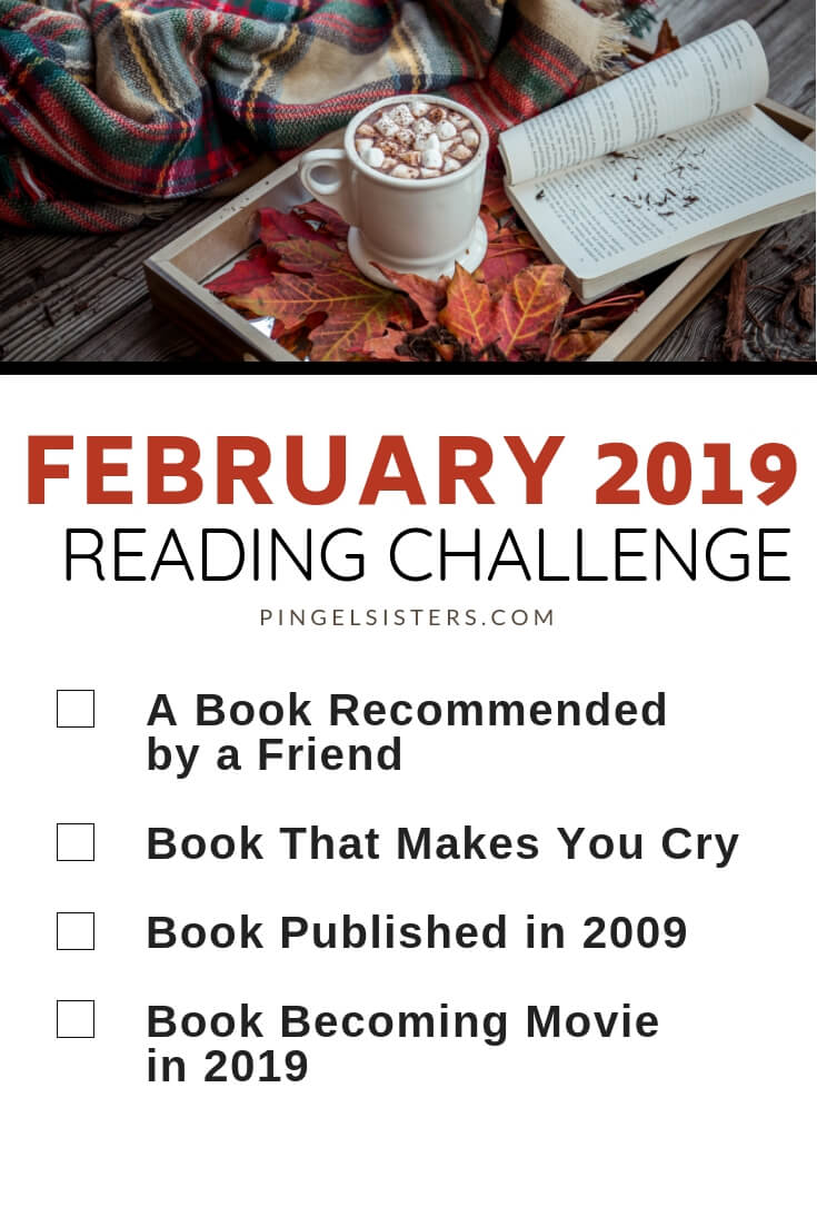 February Reading Challenge 2019 // Read a book a week this year by starting with these four categories for your February Reading Challenge