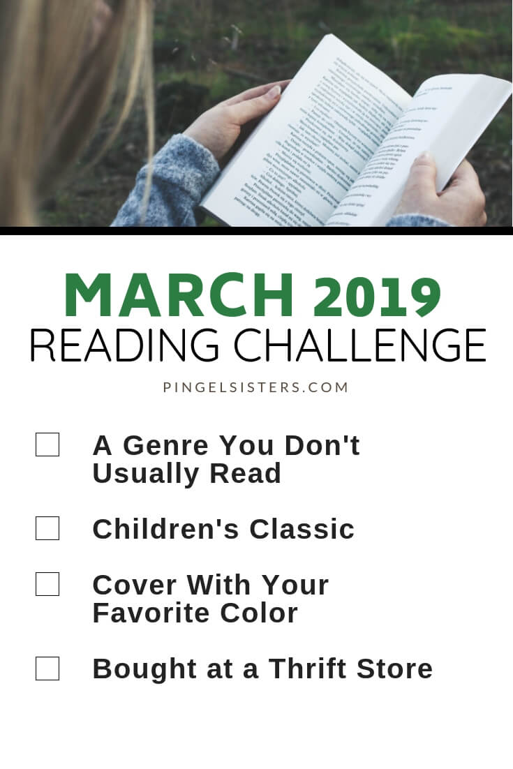 March Reading Challenge 2019 // Read a book a week this year by starting with these four categories for your March Reading Challenge