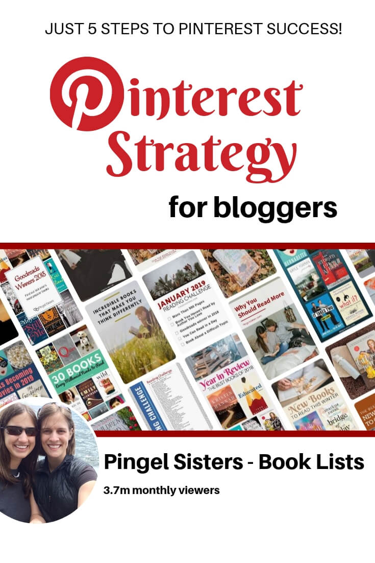Our 5-Step Winning Pinterest Strategy for bloggers // Just 5 steps to skyrocket your blog views using Pinterest for bloggers. // blogging tips, blogging, Pinterest tips, book blogging
