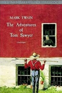 Book cover for The Adventures of Tom Sawyer by Mark Twain