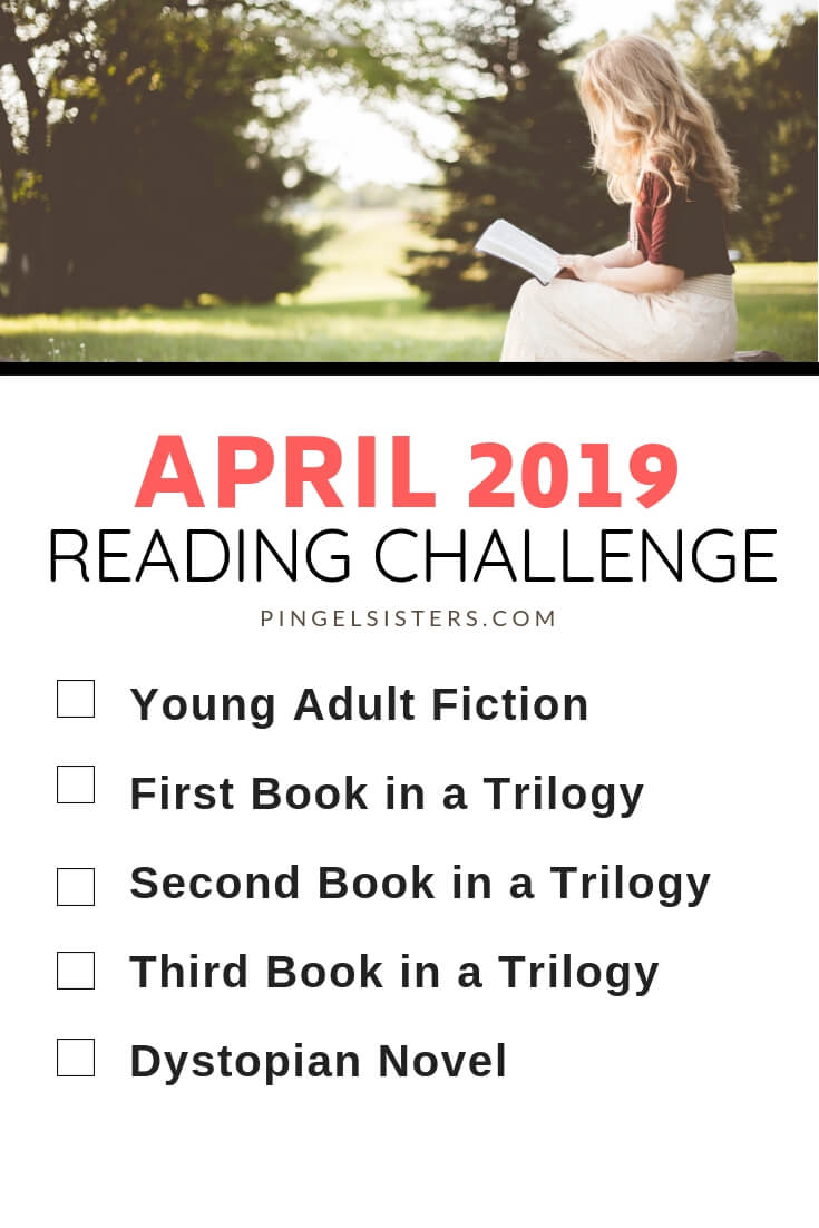 April Reading Challenge 2019 // Read a book a week this year by starting with these categories for your April Reading Challenge