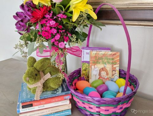 Children's Classics, Easter Eggs, Easter basket, Bunny, Flower bouquet