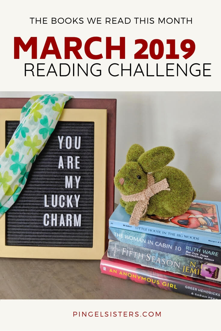 March 2019 Reading Challenge - Find out what books we read this month, and what categories are up for next month.