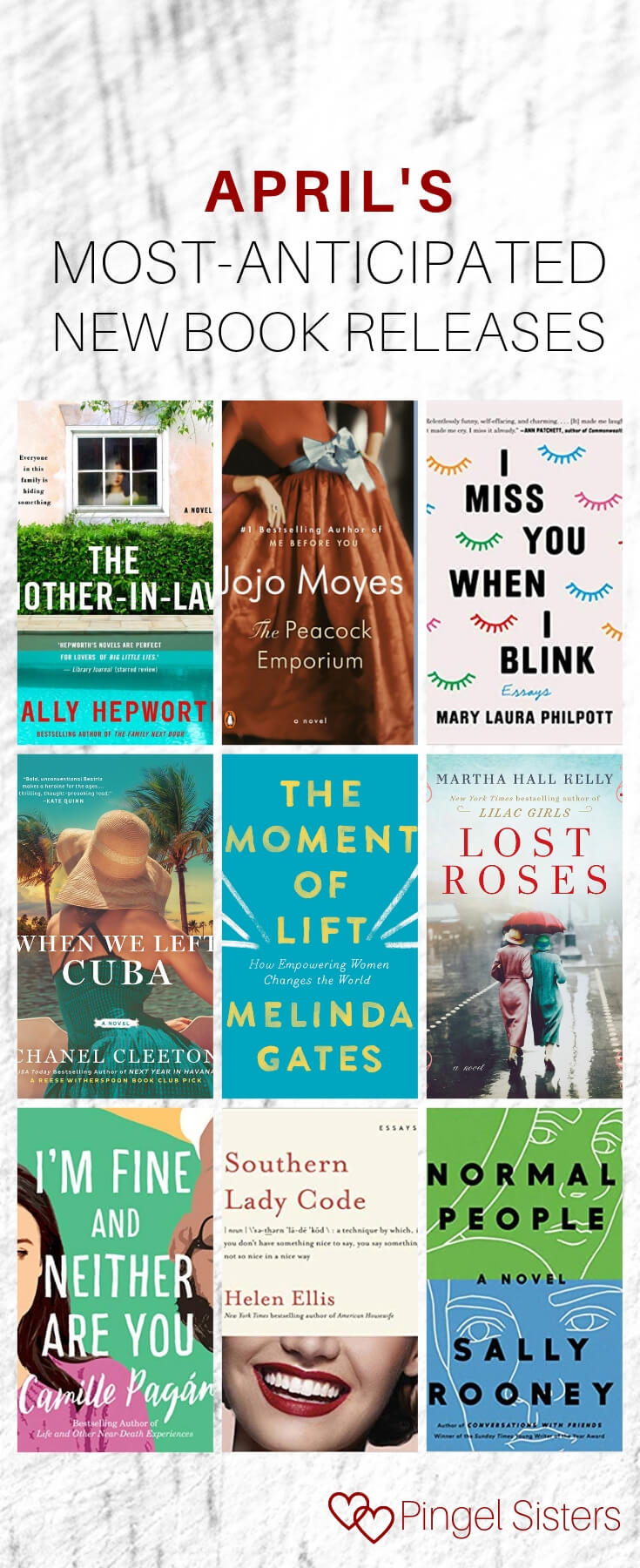 April's most anticipated new book releases. If you're looking for book suggestions, look no further! We have all the books to read now, including these hot new book releases for April 2019.