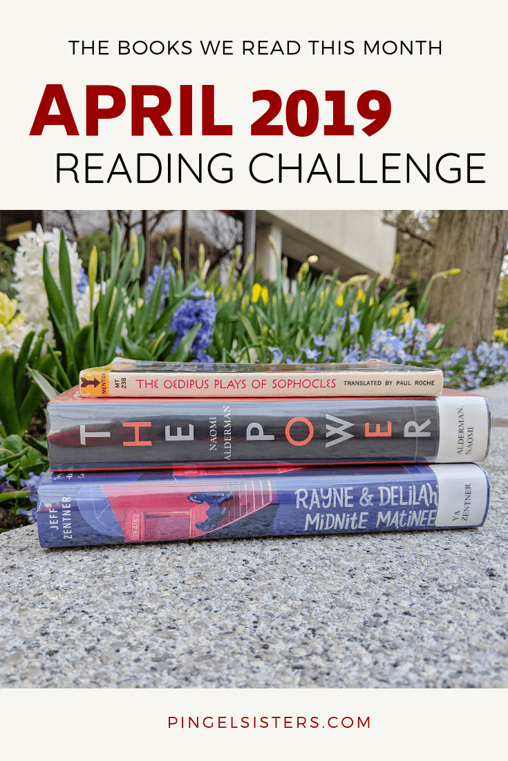 April 2019 Reading Challenge - Find out what books we read this month, and what categories are up for next month.