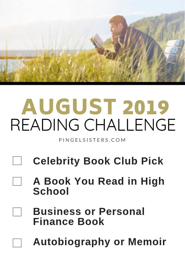 August Reading Challenge 2019 // Read a book a week this year by starting with these categories for your August Reading Challenge